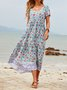 Holiday Cotton-Blend Floral Dresses
